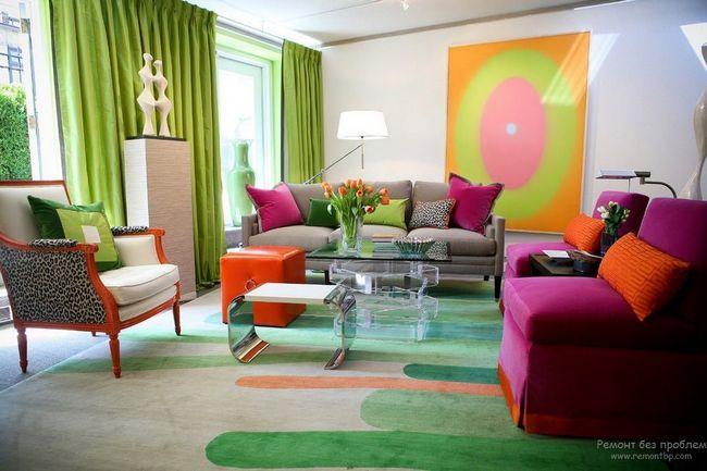 Грамотне поєднання кольору меблів і стін